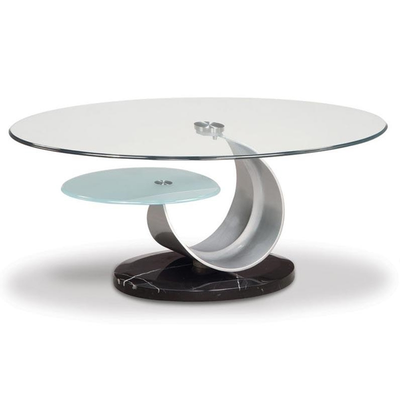 Image of: Round Coffee Tables Glass Top