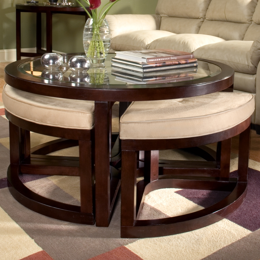 Picture of: Round Coffee Tables With Ottomans