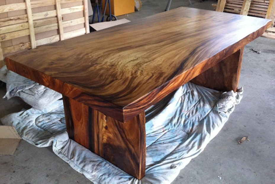 Image of: Solid wood table tops