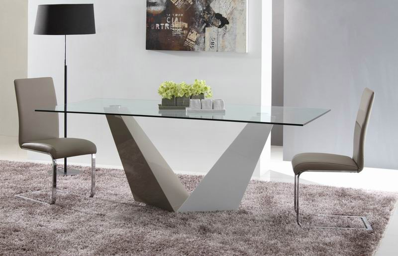 Image of: Best Contemporary Glass Dining Table