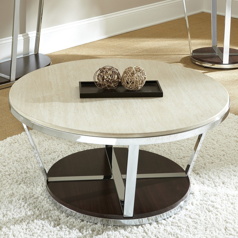 Image of: Best Round Marble Coffee Table