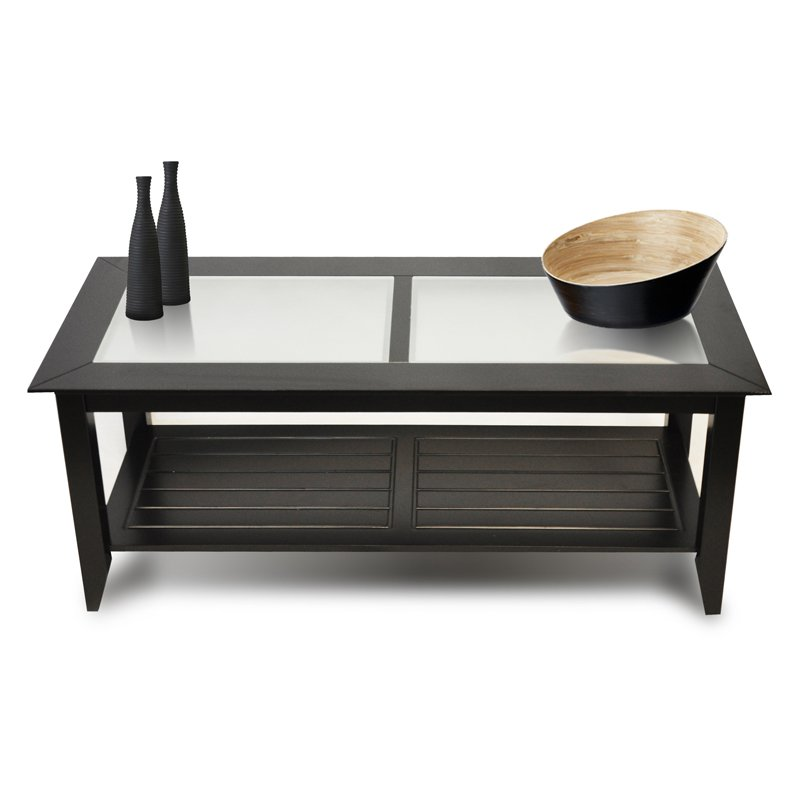 Image of: Black Rectangle Coffee Table