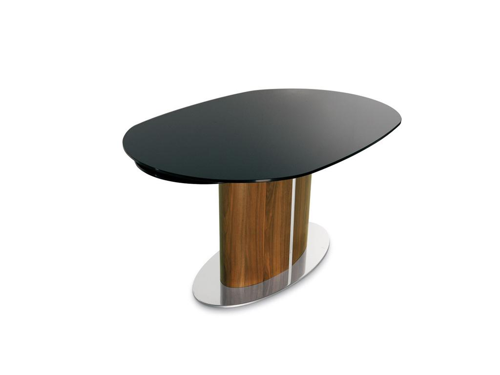 Picture of: Black Round Extension Dining Table