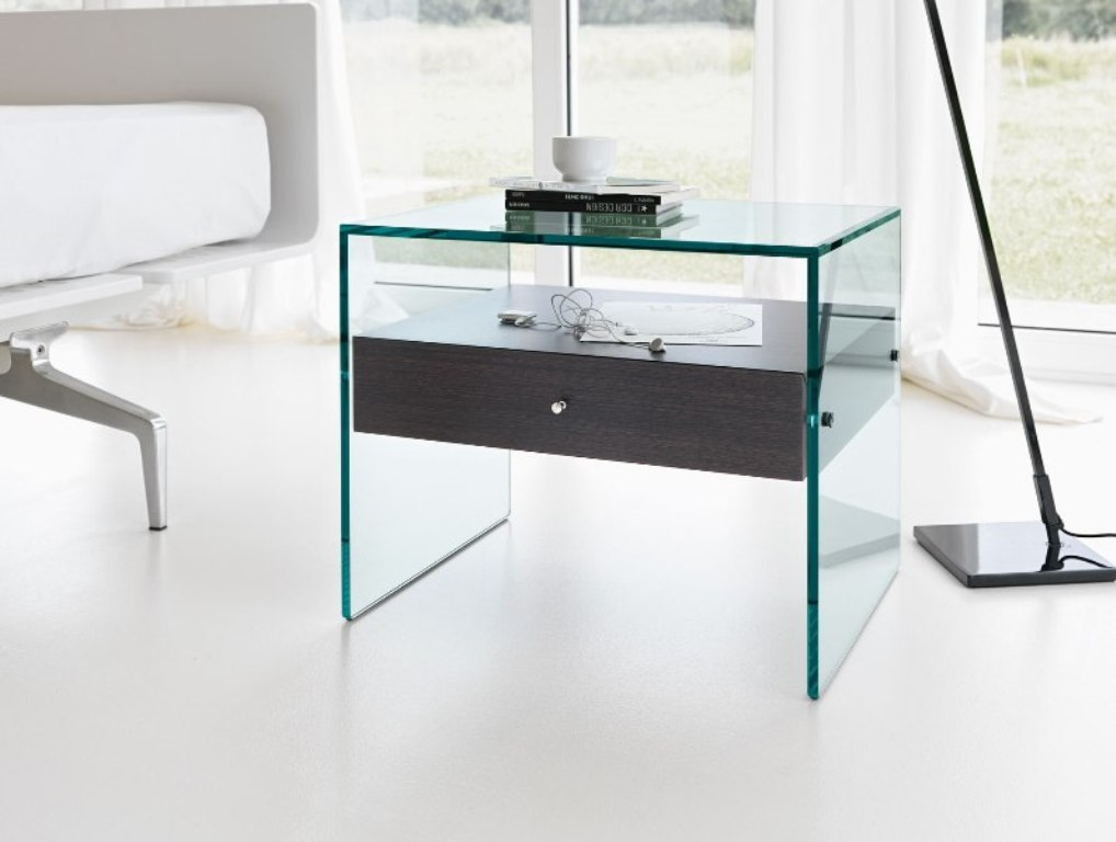 Picture of: Contemporary Bedside Tables Glass