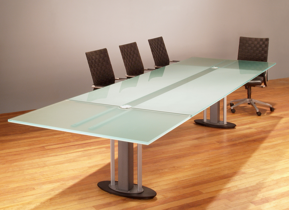 Contemporary Conference Tables Glass Top