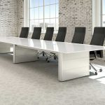 Contemporary Conference Tables White