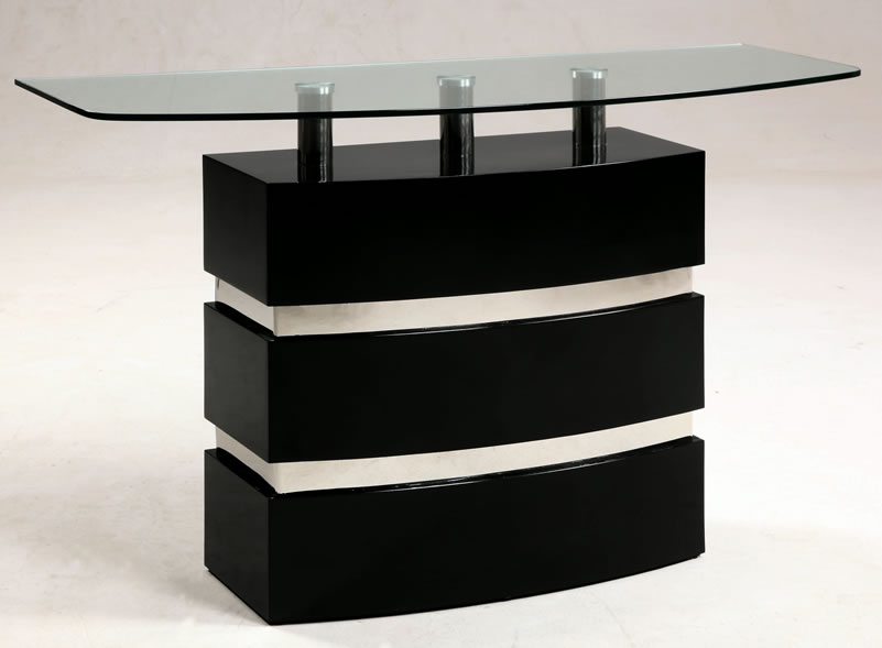 Picture of: Contemporary Console Tables Glass Top