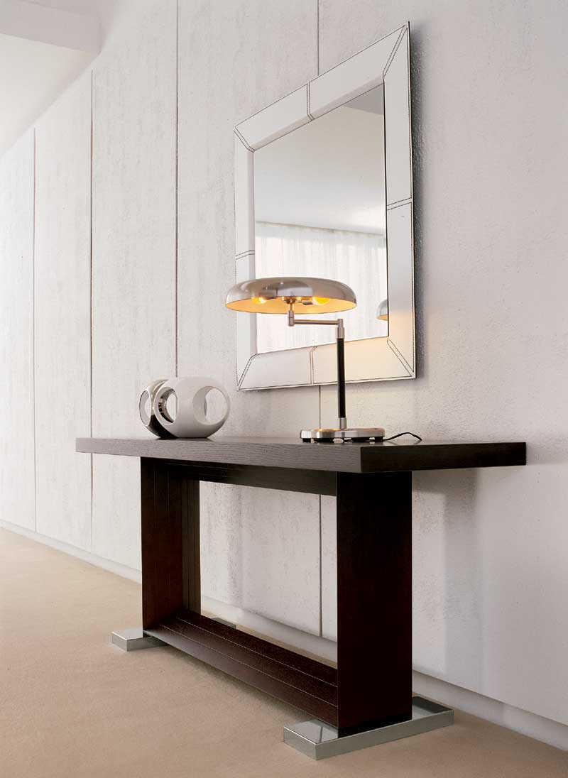 Picture of: Contemporary Console Tables and Mirror