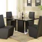 Contemporary Dining Table Sets Black