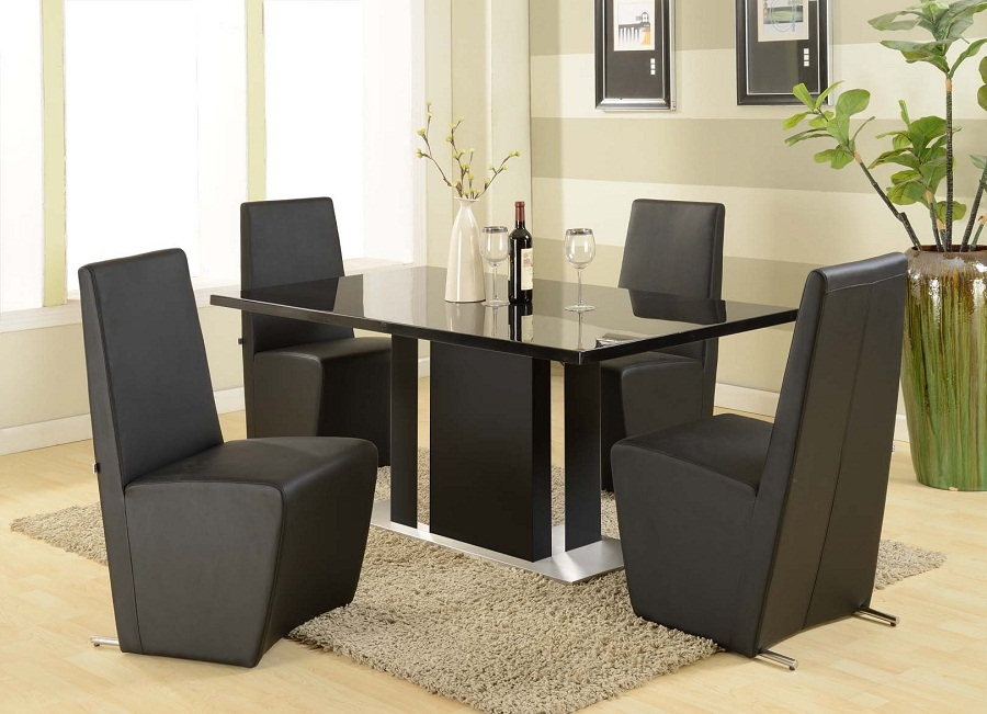 Picture of: Contemporary Dining Table Sets Black