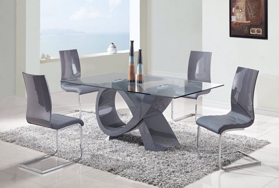 Picture of: Contemporary Dining Table Sets Gray