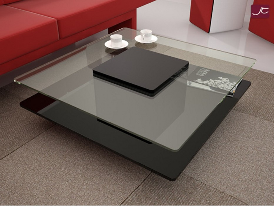Image of: Contemporary Glass Coffee Table White