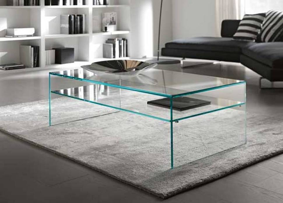Image of: Contemporary Glass Coffee Table End Table