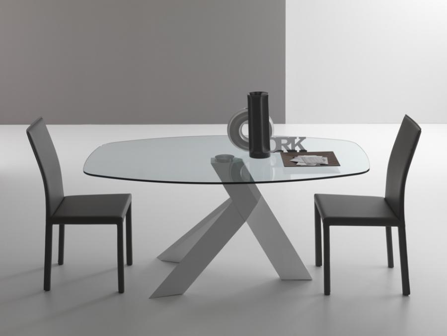 Image of: Contemporary Glass Dining Table 2017