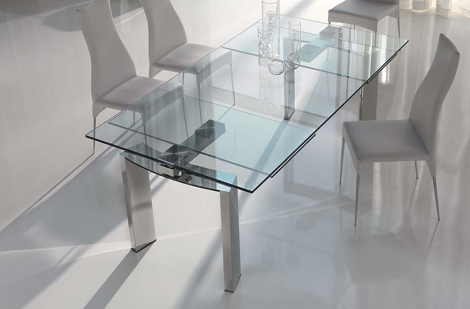 Image of: Contemporary Glass Dining Table Designs