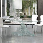 Contemporary Glass Dining Table Oval
