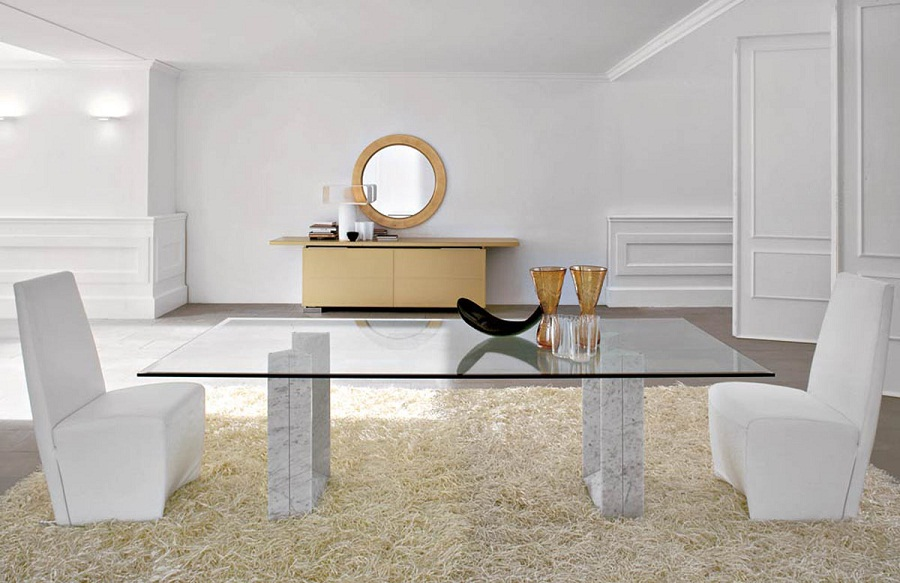 Image of: Contemporary Glass Dining Table Shapes