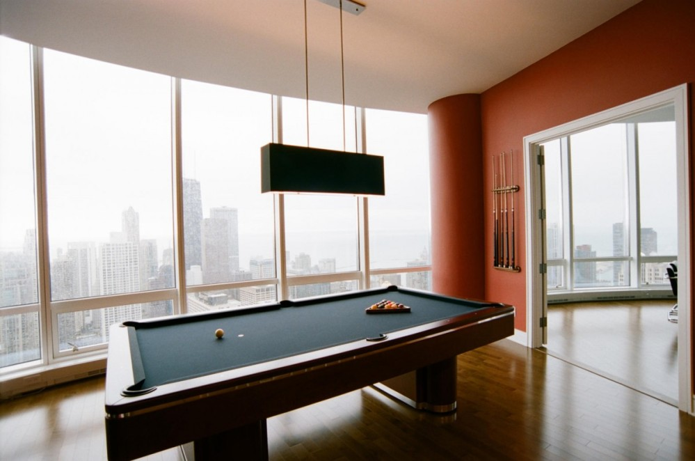 Picture of: Contemporary Pool Table Lights Battery