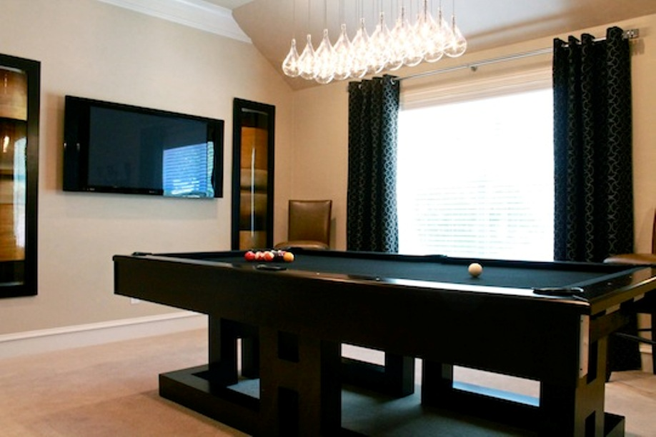 Picture of: Contemporary Pool Table Lights for Parties