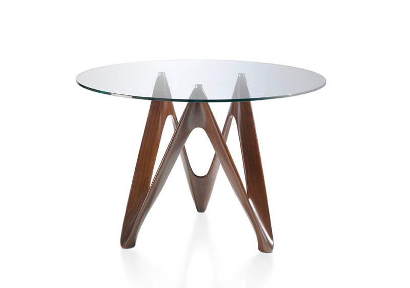 Image of: Contemporary Round Dining Table Glass Top