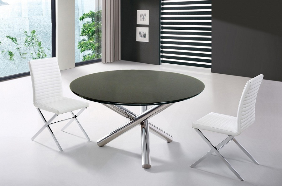 Image of: Contemporary Round Dining Table Material