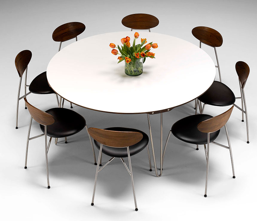 Image of: Contemporary Round Dining Table Style