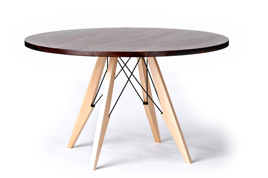 Image of: Contemporary Round Dining Table Wood