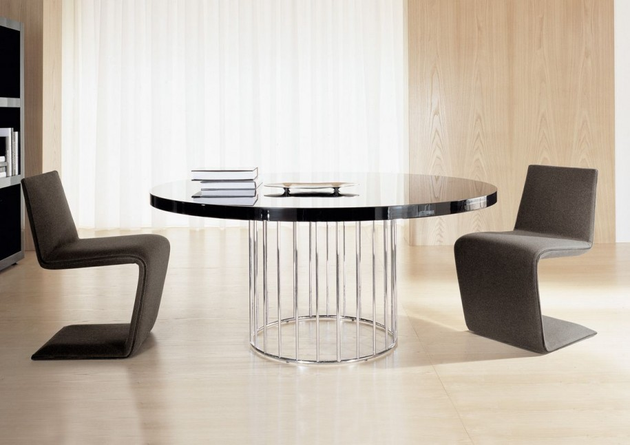 Image of: Contemporary Round Dining Table