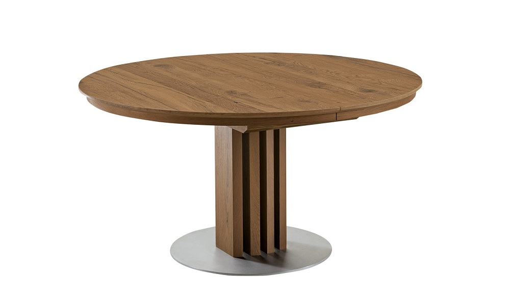 Picture of: Contemporary Round Extension Dining Table