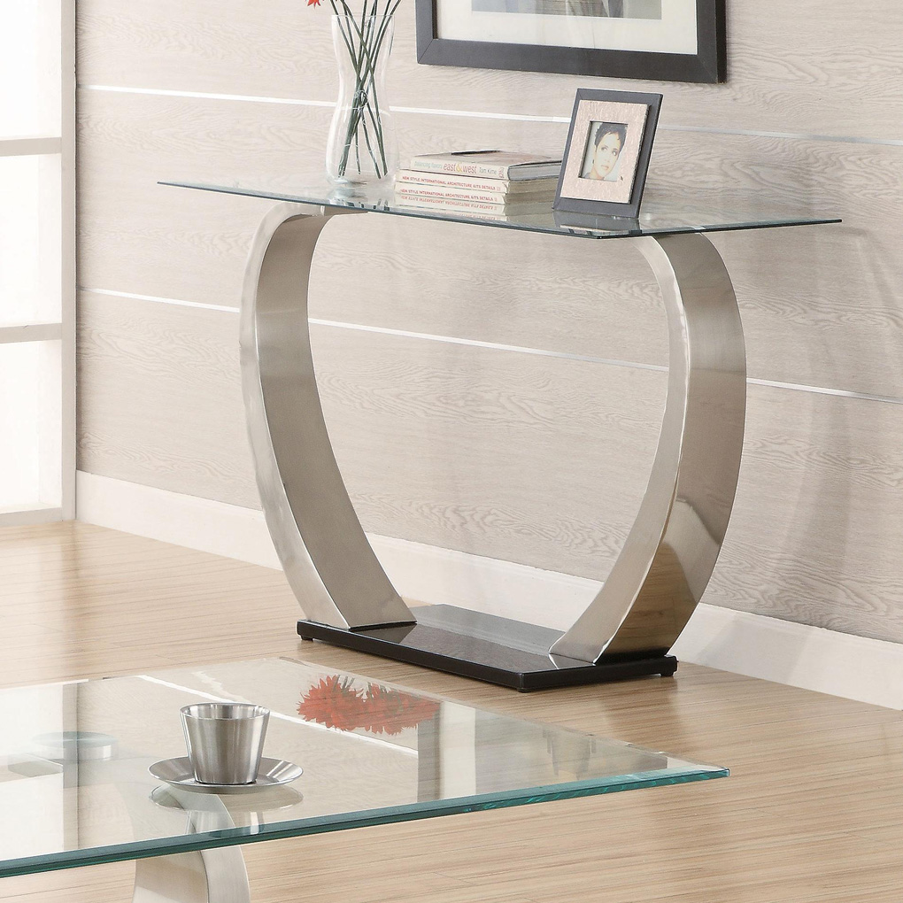 Image of: Contemporary sofa tables glass