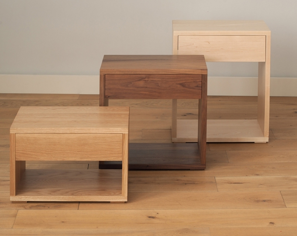 Picture of: Cube Contemporary Bedside Tables
