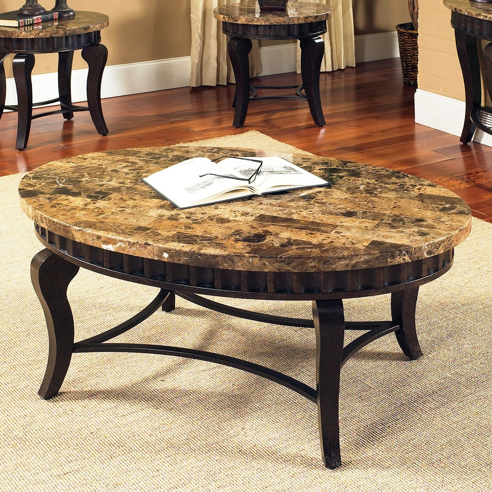 Image of: Custom Round Marble Coffee Table