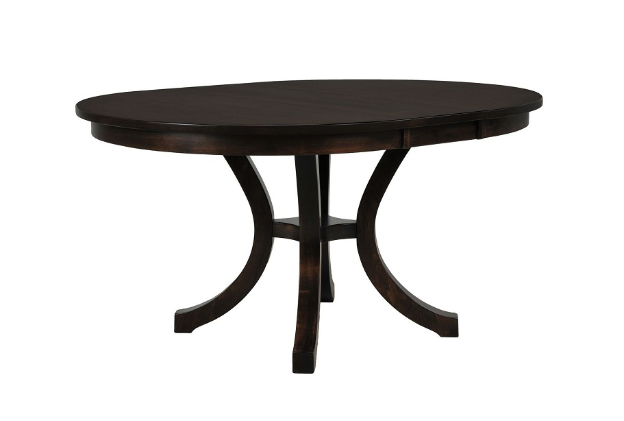 Picture of: Dark Round Extension Dining Table