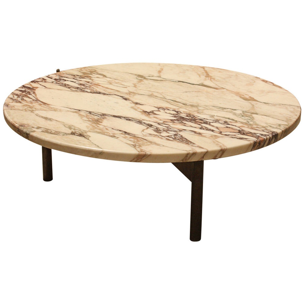 Image of: Design Round Marble Coffee Table