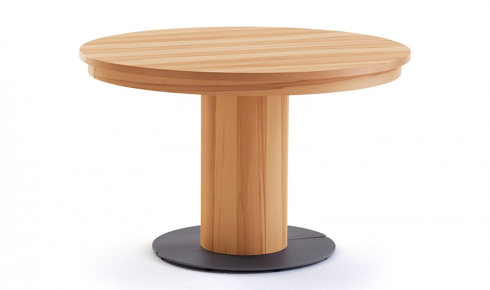 Picture of: Elegant Round Extension Dining Table
