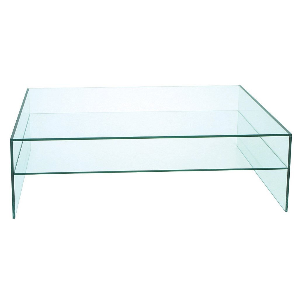Picture of: Glass Rectangle Coffee Table