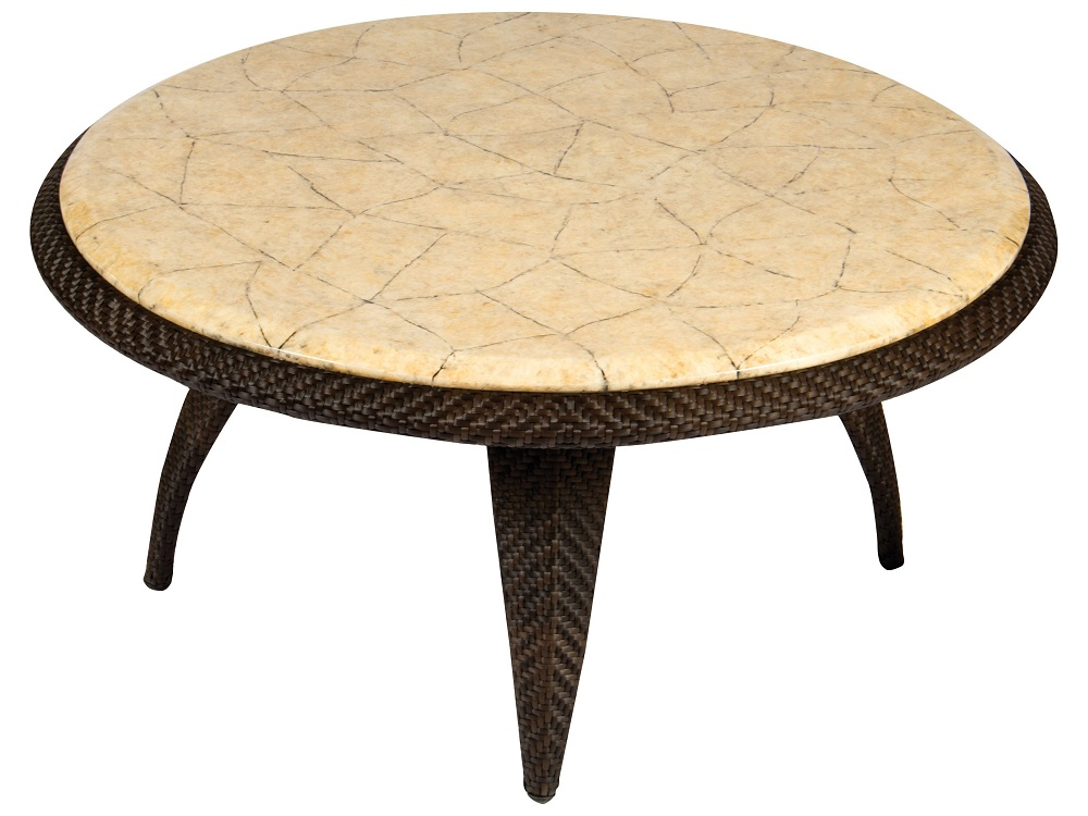 Image of: Install Round Marble Coffee Table