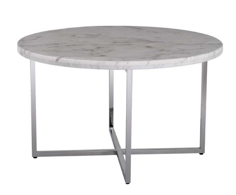 Image of: Large Round Marble Coffee Table