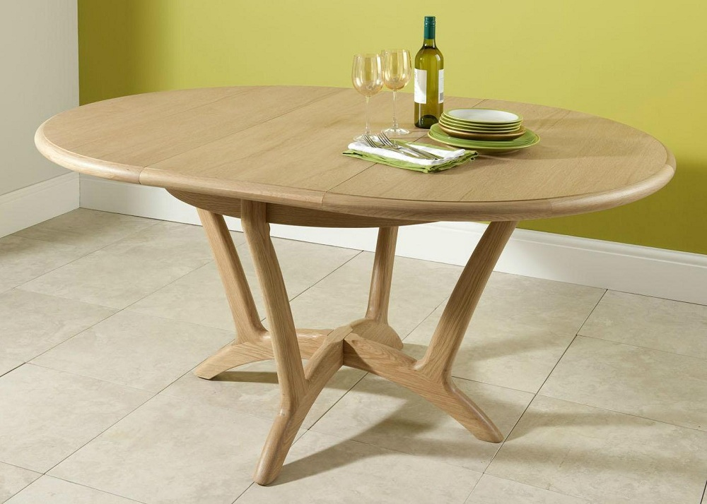 Picture of: Modern Round Extension Dining Table