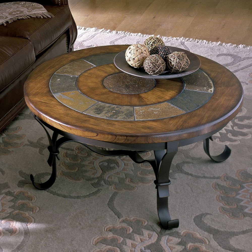 Image of: Modern Round Marble Coffee Table