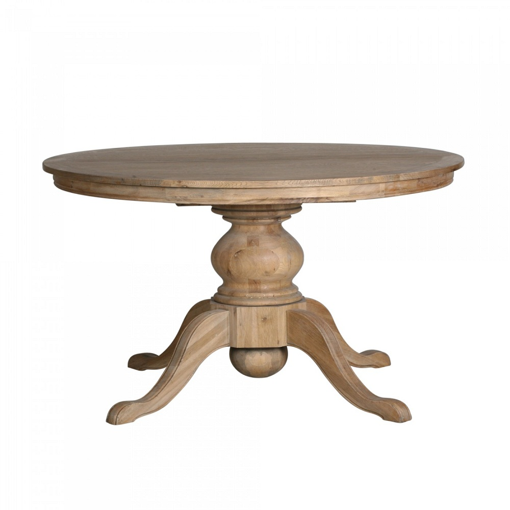 Picture of: Natural Round Extension Dining Table