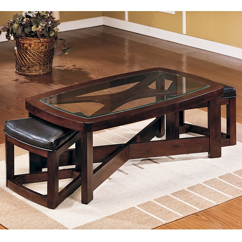Picture of: Rectangle Coffee Table with Seating