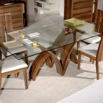 Rectangular Contemporary Glass Dining Table