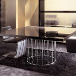 Round Contemporary Dining Table Rectangular