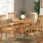 Round Contemporary Dining Table Wooden