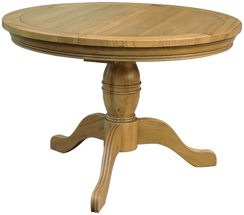 Picture of: Simple Round Extension Dining Table