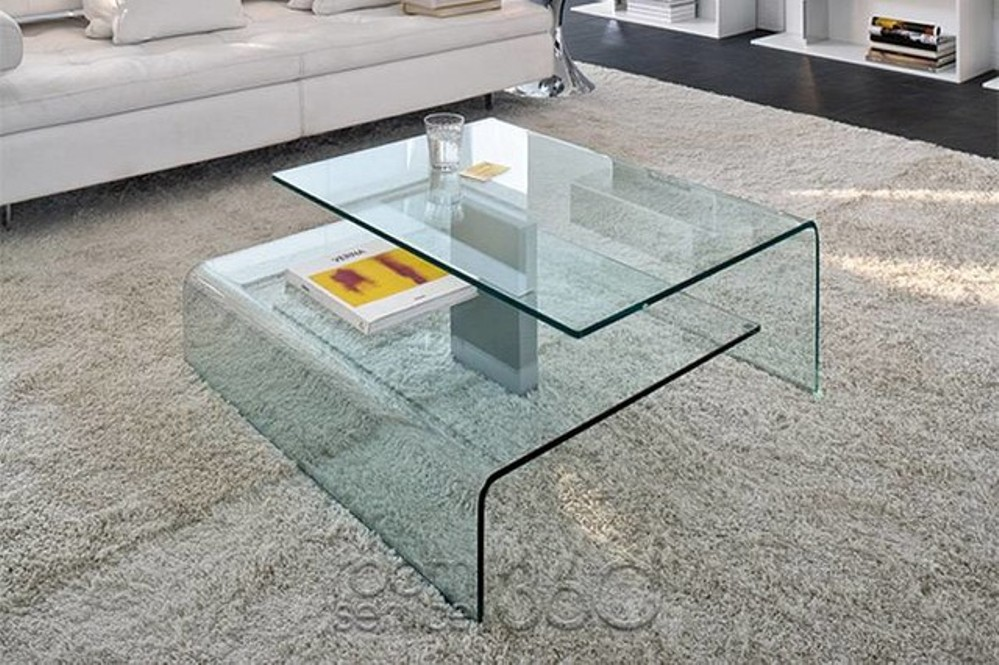 Image of: Square Contemporary Glass Coffee Tables
