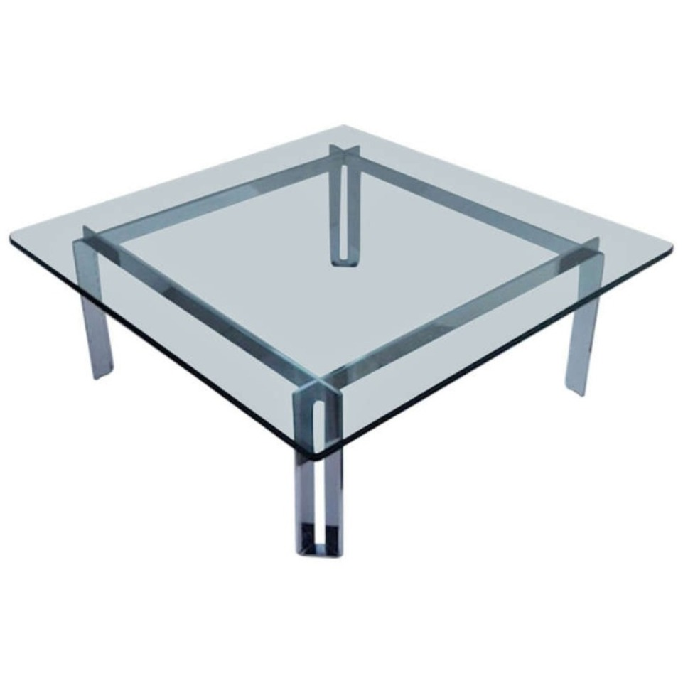 Picture of: Square Glass Contemporary Cocktail Tables