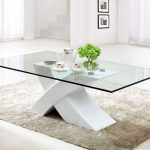 Swing Out Glass Contemporary Glass Coffee Tables