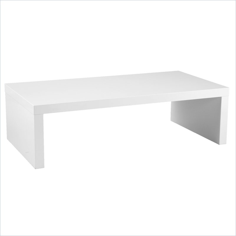 Picture of: White Rectangle Coffee Table